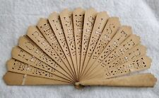 Antique Victorian Vintage Pierced Wooden For My Sister Hand Fan