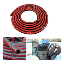D-Shaped Door Rubber Weather Seal Hollow Strip Dust-proof Black For Car Truck 4M