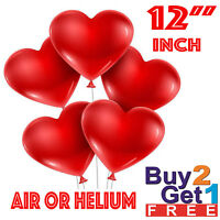 100 LOVE HEART SHAPE BALLOONS Wedding Party Romantic baloon Birthday decoration