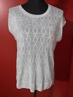 Banana Republic Women's Gray Short Sleeve Knitted Hi-Lo Sweater Size Medium