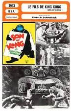 FICHE CINEMA : LE FILS DE KING KONG - Armstrong,Schoedsack 1933 Son of Kong