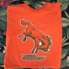 UTPA Broncs Texas Pan American Orange Shirt Classic Logo Adult Medium
