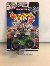 Grave Digger Long Card * 2000 Hot Wheels Monster Jam *K2