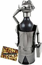 "BRUBAKER Wine Bottle Holder ""Business Manager"" - Metal - w Greeting Card"