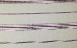 "BALLARD DESIGNS CALLISTO STRIPE PURPLE NUBBY FURNITURE FABRIC 4 YARDS 54""W"