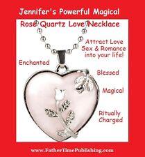 Jennifer's Powerful Magical Rose Quartz Love Necklace Attracts Love Sex Romance