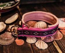 Ethnic pink martingale dog collar, sport dog collar, tribal boho floral cute