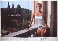PUBLICITÉ DE PRESSE 1983 CHEMISETTE ROSY ASSORTIS SOUTIEN-GORGE CULOTTE SLIP