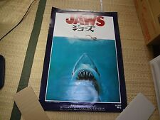 Steven Spielberg  JAWS 1975 ORG Japan Movie Poster Amity Island SHARK B2
