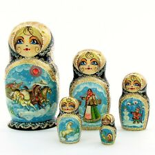5 Poupées russes H17 peint main signé Matriochka Gigognes Nested Doll Matrioshka