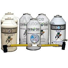 Enviro-Safe R-134a Refrigerant Replacement Full Repair Kit - 6 Cans Tap + Gauge