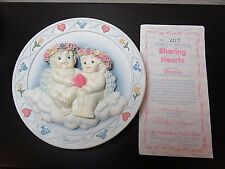 "Hamilton Collection Dreamsicles 7"" Sculpture Plate Sharing Hearts Nib"