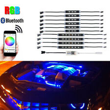 10PCS Wireless RGB LED Strips For Engine Bay/Under Car Lighting Kit APP Control