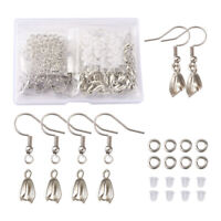Silver Plated Stainless Steel Earring Hooks Brass Ice Pick Pinch Bails Findings