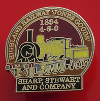 Danbury GB Locomotive Train Pin Badge & COA Highland Railway Jones Goods 4-6-0
