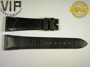 NEW OEM Authentic Longines strap 22 mm Genuine Lizard black color vintage