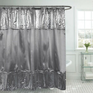 """Sweet Home Collection Glamour Sequins Shower Curtain 72"""" x 72"""""""