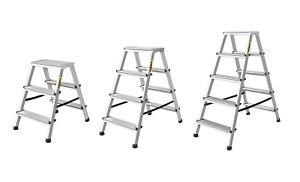 Doppelleiter Trittleiter Stehleiter 2x3 2x4 2x5 Stufen Aluminium Leicht Haushalt