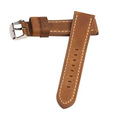 Hadley-Roma Rust Oil Tanned Distressed Leather Watch Band 22mm MS854