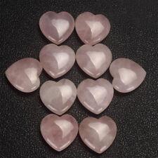 New Natural Healing Gemstone Love Heart Palm Rose Quartz Crystal Specimens Gift