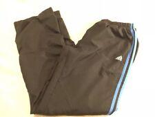Adidas Pants Medium Black Pants Blue Stripes