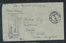 KENYA  UGANDA TANGANYIKA (P2609B) OAS STAMPLESS CENSOR TO ENGLAND