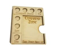 Commander Command Zone EDH Fits Standard Magic MTG Game Exp Slot Card Dice Tray