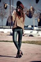 ZARA Bronze Knitted Stretch Autumn Winter Jumper Knitted Tunic M 10-12 Bloggers