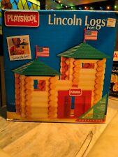 lincoln logs fort playskool 90 piece vintage toy