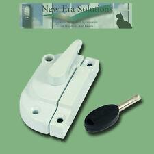 10 White Modern Locking Fitch Fasteners, Catch, Sash Window Lock, 10 Pack (Ten).