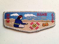ASHIE OA LODGE 436 SCOUT PATCH SERVICE FLAP SMY BORDER SDCC 1914-1989