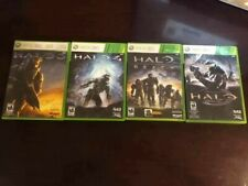 Xbox 360 - Lot of 4 Halo 3 + 4 + Reach + Anniversary - ALL COMPLETE