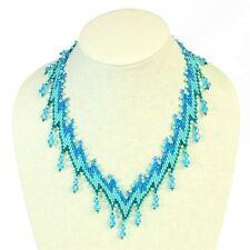 NE167-231 Lightning Necklace Czech Crystal Glass Beads Fair Trade Artisan Collar