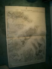 Vintage Admiralty Chart 974 MALTA - VALLETTA HARBOURS 1926 edn