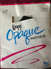 exciting! Vintage Leggs Black Opaque pantyhose size a