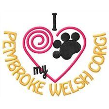 """I """"Heart"""" My Pembroke Welsh Corgi Fleece Jacket 1302-2 Size S - Xxl"""