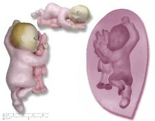 BABY SLEEPY With BUNNY Large Craft Sugarcraft Sculpey Silicone Rubber Mould