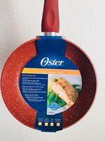 Oster Caswell Non-Stick Marble Look Aluminum Fry Pan, 9.5 in, Red