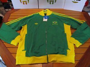 RARE NWT Adidas Brasil TT Track Jacket Green Yllw XL P04028 78 World Cup Trefoil