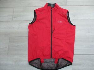 Gore Bike Wear Path Windstopper Active Shell Vest Gilet Body Warmer Red M