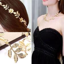 New Elegant Woman Girls Gentler Vintage Hollow Leaf Elastic Hair Band Headbands
