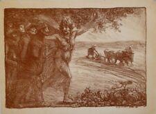 Lithographie de STEINLEN, Poilus menés par Cérès
