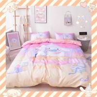 Cute Cinnamoroll Bed Sheet Cotton Quilt Covers Pillow Case Duvet Cover Sheet Set