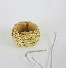 B058 Dollhouse Miniature Bird/'s Empty Nest Hanging Planter