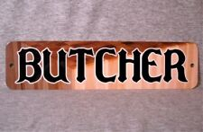 Metal Sign BUTCHER meat shop markets block knife butchery shops grocery store