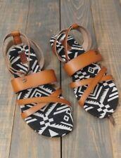50c73031d388 New Roxy Women s Oaxaca Tan Leather Strappy Sandals Size 7M