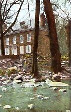 Postcard NY Amsterdam Montgomery Cty Fort Johnson Kayaderosseras Creek