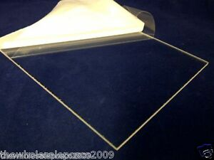 Clear Acrylic Sheet Perspex Panel 297mm x 210mm x 3mm Thick Sheet Sawn Edges