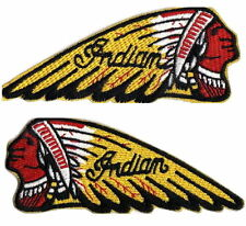 2x INDIAN MOTORCYCLE LOGO EMBROIDERED IRON ON PATCHES chief scout biker vest