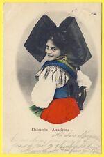 cpa Cachet STRASSBURG (Bas Rhin) Costume Jolie ALSACIENNE Coiffe Papillon